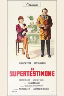 Poster La supertestimone