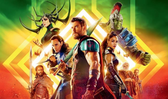 I protagonisti di Thor: Ragnarok nel poster ufficiale del film