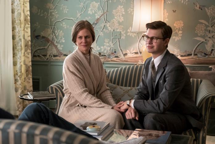 Una scena tratta dal film Il Cardellino con Ansel Elgort e Nicole Kidman
