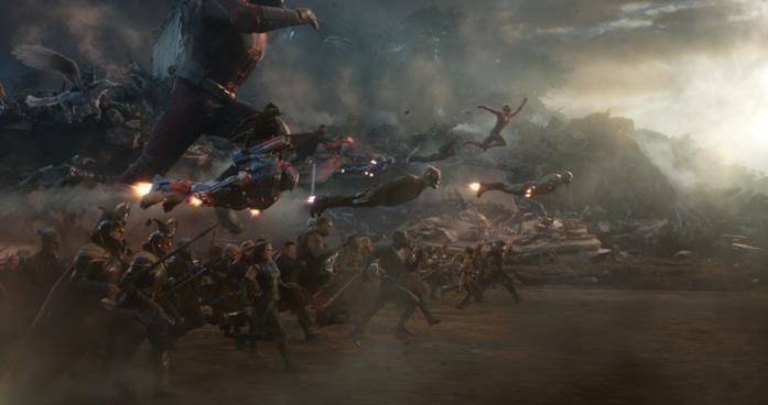 Una scena di Avengers: Endgame