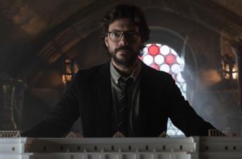 Il Professore in una scena de La Casa di Carta