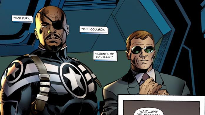 Gli agenti S.H.I.E.L.D. Nick Fury e Phil Coulson