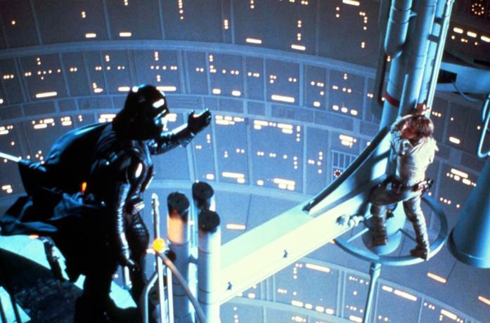 Darth Vader e Luke Skywalker ne L'Impero Colpisce Ancora