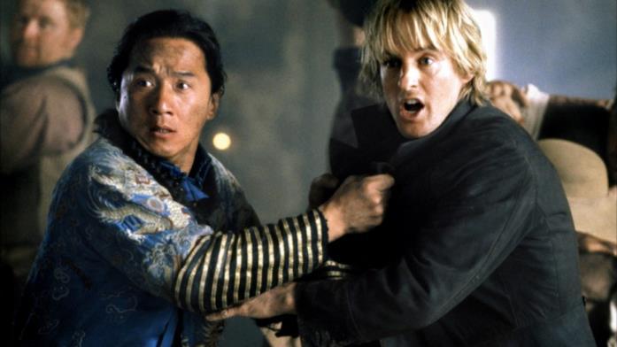 Jackie Chan e Owen Wilson, protagonisti di Pallottole Cinesi