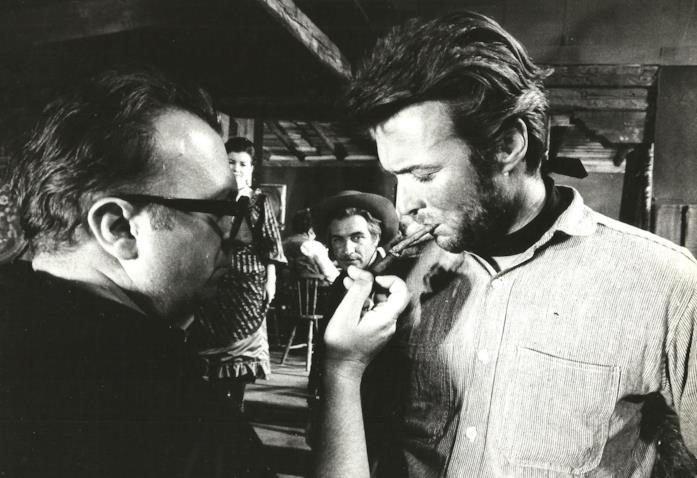 Sergio Leone e Clint Eastwood sul set di Per qualche dollaro in più