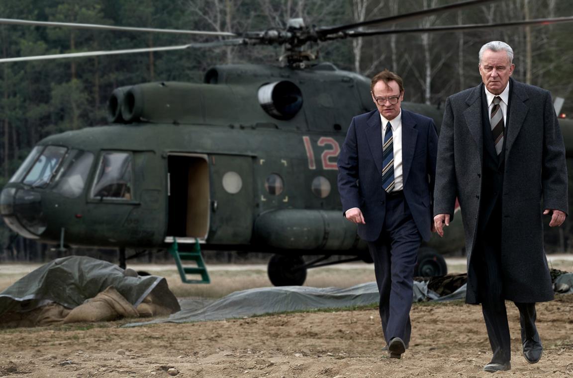 Jared Harris e Stellan Skarsgård sono Valerij Alekseevič Legasov e Boris Ščerbina in Chernobyl