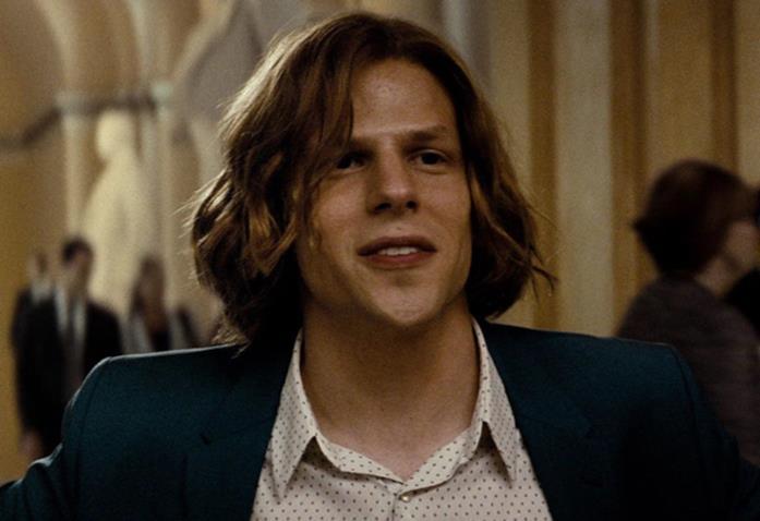 Mezzobusto di Jesse Eisenberg nella sua magistrale interpretazione di Lex Luthor