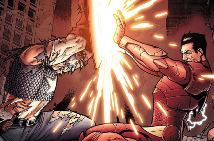Un'immagine del fumetto Civil War