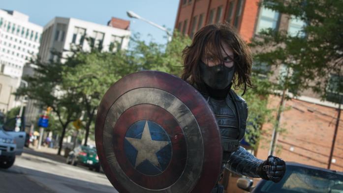 Captain America: The Winter Soldier: Bucky lotta contro Steve in una scena del film