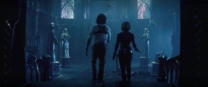Loki e Sylvie entrano nella Cittadella e scoprono le statue dei Custodi del Tempo