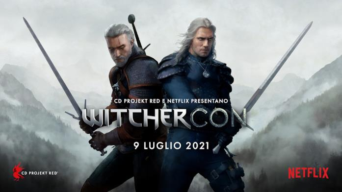 I due Geralt sul banner ufficiale della WitcherCon