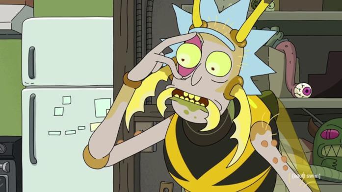 Una scena tratta dalla quarta stagione di Rick and Morty