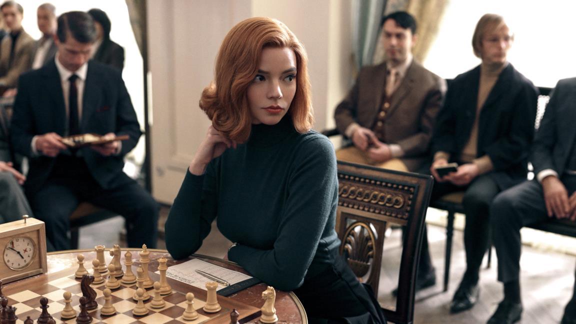 Anya Taylor-Joy in La regina degli scacchi