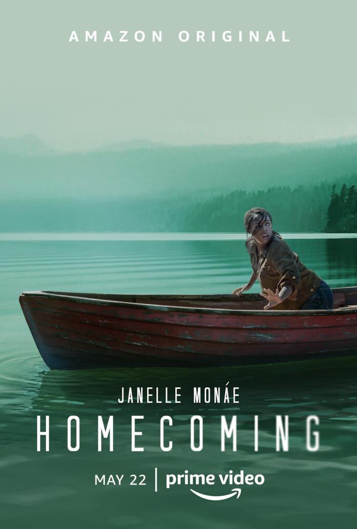 Janelle Monáe dentro una canoa in acqua