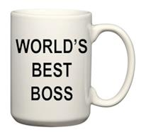 """World's Best Boss"" Coffee Mug"