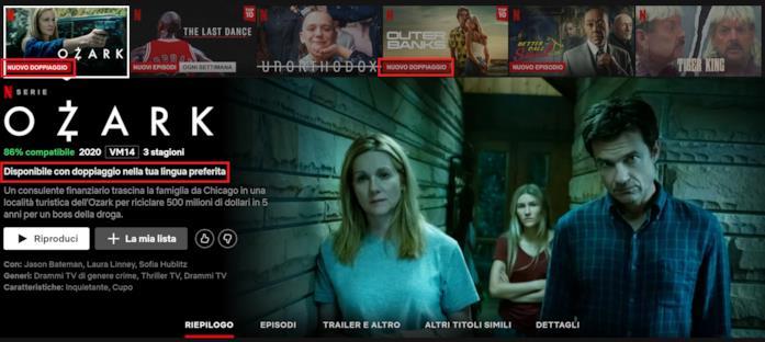 La scheda di Ozark su Netflix