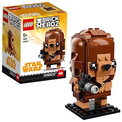 Brickheadz- Chewbacca, Star Wars, Multicolore, 41609