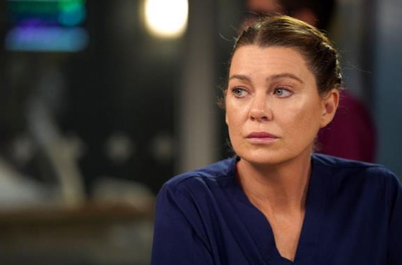 Il poster di Grey's Anatomy 16 con Meredith