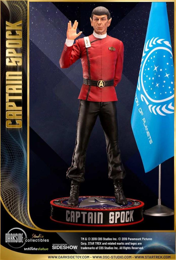 Capitan Spock statua da collezione - figura intera