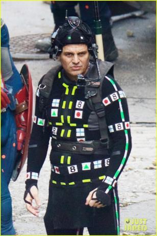 Uno scatto ravvicinato a Mark Ruffalo sul set di Avengers 4