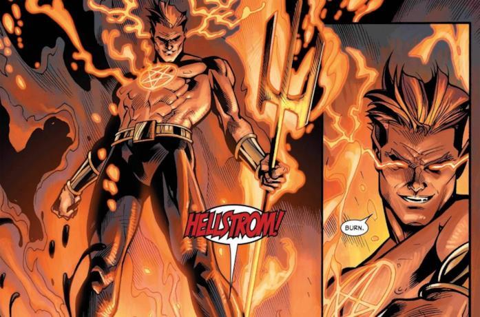 Un'immagine di Helstrom dai fumetti Marvel Comics