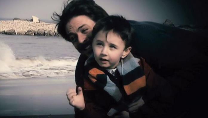 Il piccolo Valerio con Filippo
