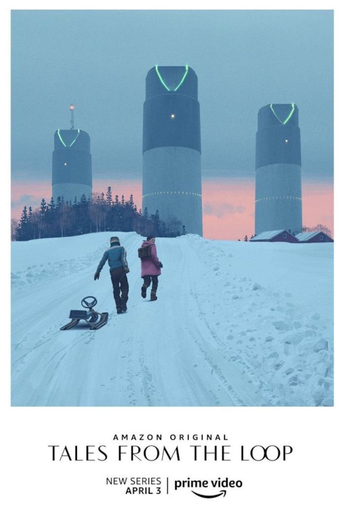 Il poster di Tales from the Loop ritrae una scena del primo episodio
