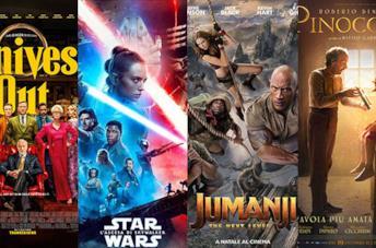 I poster di Knives Out, Star Wars: L'ascesa di Skywalker, Jumanji 3, Pinocchio