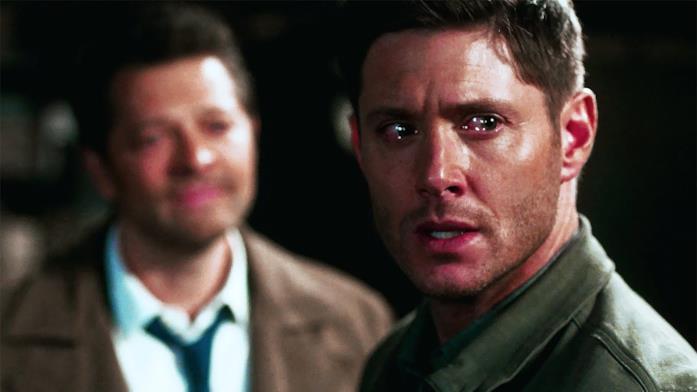 Misha Collins e Jensen Ackles piangono in Supernatural