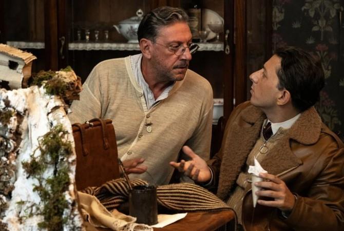 Sergio Castellitto e Adriano Pantaleo in una scena del film