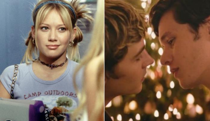 Collage tra scene di Lizzie McGuire e Love, Simon