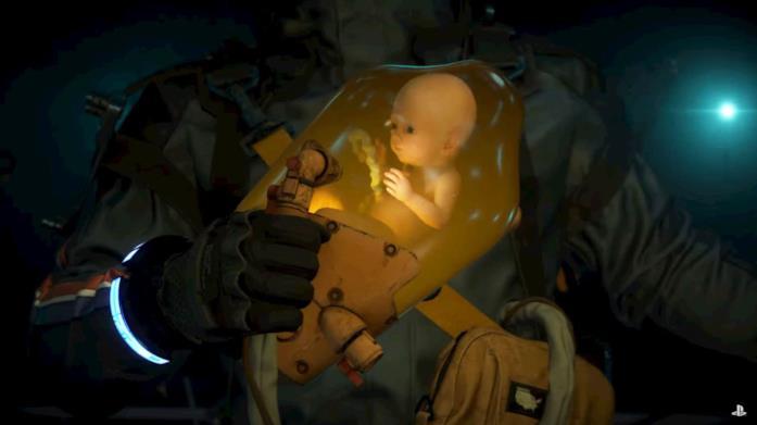 Un'immagine del pod del bambino di Death Stranding