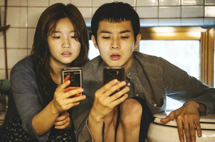 Una scena di Parasite di Bong Joon-ho (2019)
