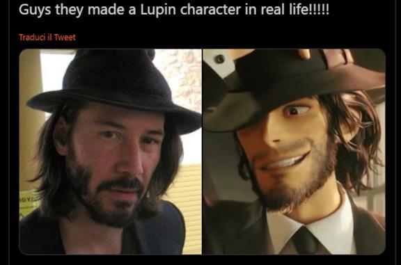 Lupin III: Jigen nel nuovo film fa palpitare il web (e c'è chi lo paragona a Keanu Reeves)