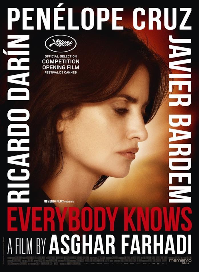 Penélope Cruz nel poster ufficiale di Everybody Knows