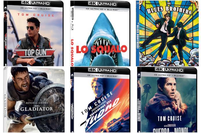 Top Gun, Lo Squalo, The Blues Brothers, Il Gladiatore, Giorni di Tuono e La Guerra dei Mondi