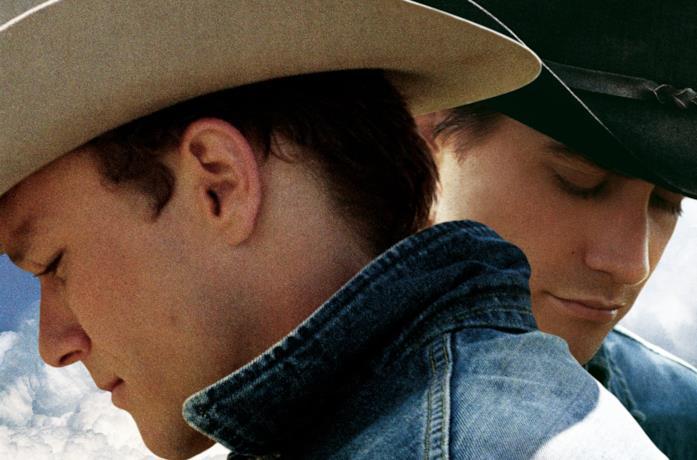 Primo piano di Heath Ledger e Jake Gyllenhaal