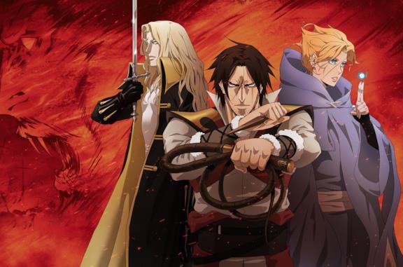 Un'immagine dei protagonisti della serie animata di Castlevania