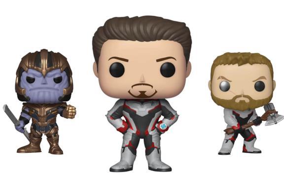 Thanos, Tony Stark e Thor in versione Funko