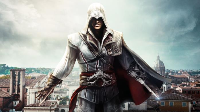 Un concept art di Ezio Auditore, uno dei protagonisti più celebri di Assassin's Creed