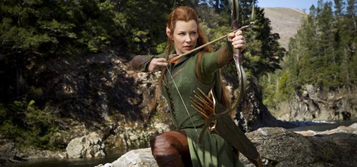 Evangeline Lilly nei panni dell'elfa Tauriel