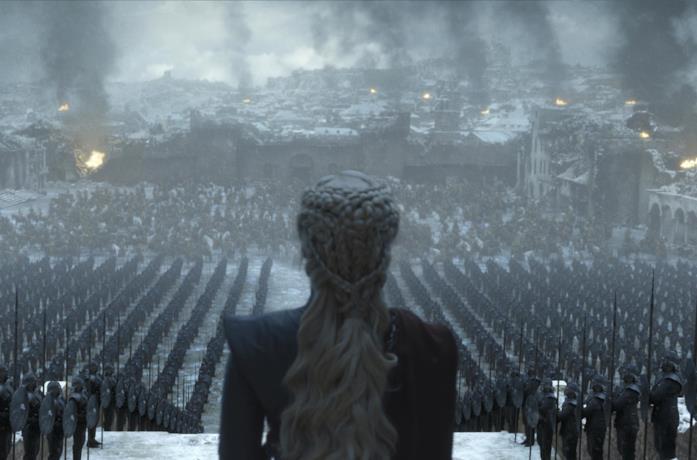Una scena dal finale di Game of Thrones