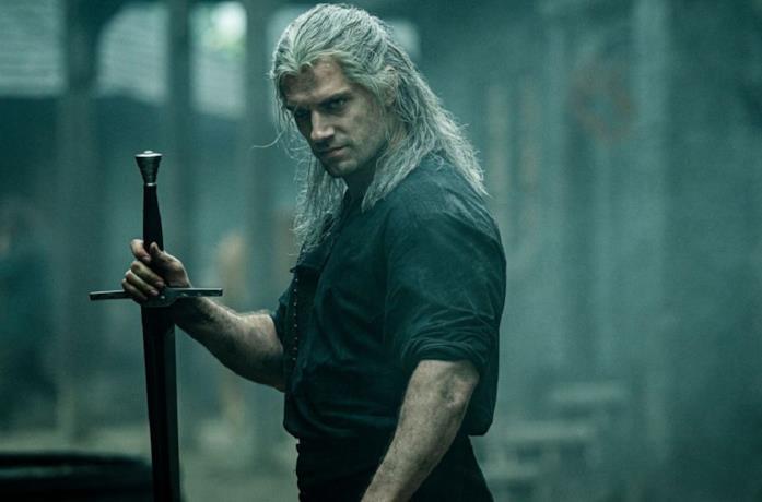 Henry Cavill nella serie TV The Witcher di Netflix
