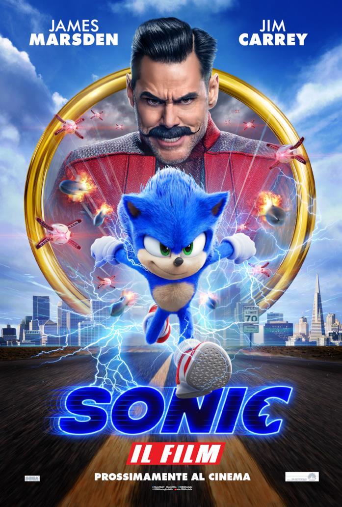 Il poster del film Sonic