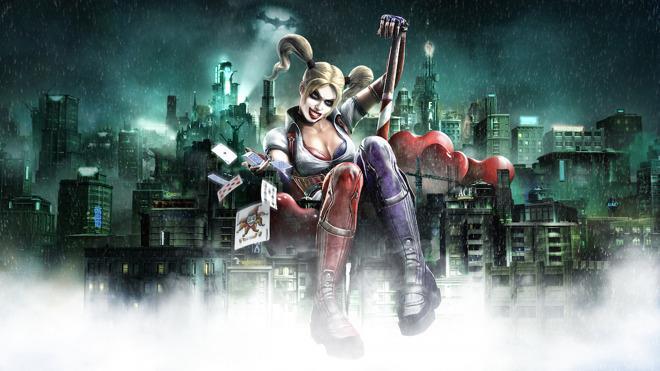 Harley Quinn in un artwork ufficiale di Batman: Arkham Underworld