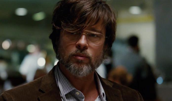 Brad Pitt in una scena de La grande scommessa