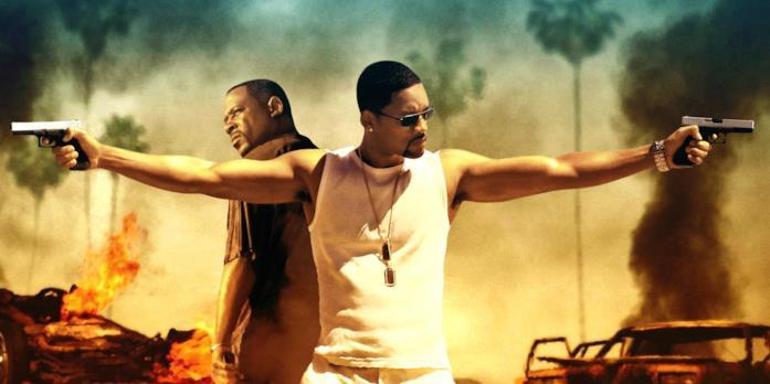 Una foto promozionale di Bad Boys 2 con Martin Lawrence e Will Smith