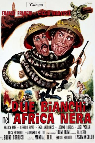 Poster Due bianchi nell'Africa nera