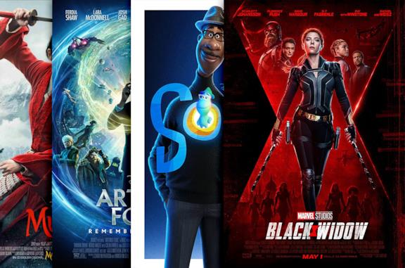 I poster di Black Widow, Onward, Gli Eterni, Mulan
