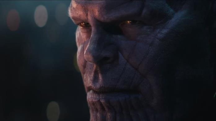 Thanos interpretato da Josh Brolin